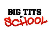 Big tits at school