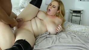 Busty bitch with shaved pussy