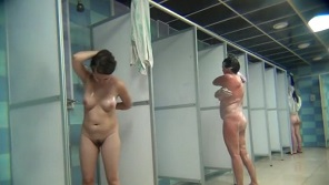 Hidden camera in women shower