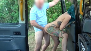 Fake Taxi - Awesome public sex with blue haired chick
