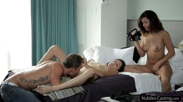 Nubiles Casting - Hot threesome casting with Cali Doe and Kristina Bell