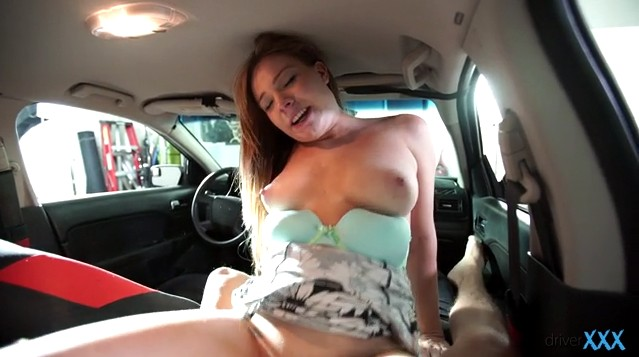 DriverXXX - Busty chick Tiff Bannister enjoys great sex in car