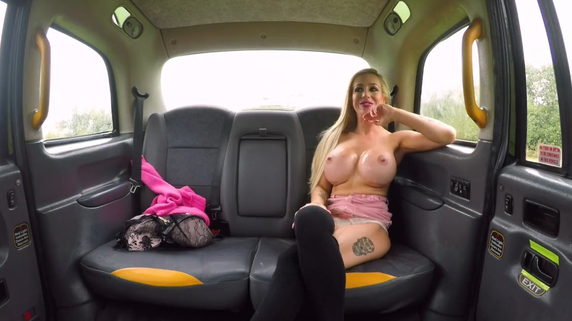 Fake Taxi - Blonde with fake tits fucked in taxi cab