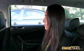 Fake Taxi - Sweet brunette takes a ride in FakeTaxi