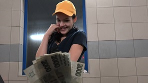 Czech streets 107 - Sweet brunette earns some money