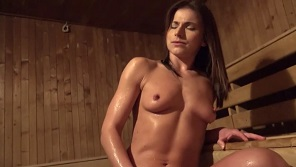 Czech Streets - Perfect czech fitness trainer fucked hardly in sauna for money
