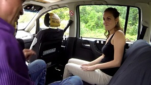 Czech Taxi - Czech amateur fucked hardly in taxi cab