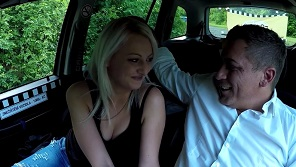 For taxi blonde driver fuck be