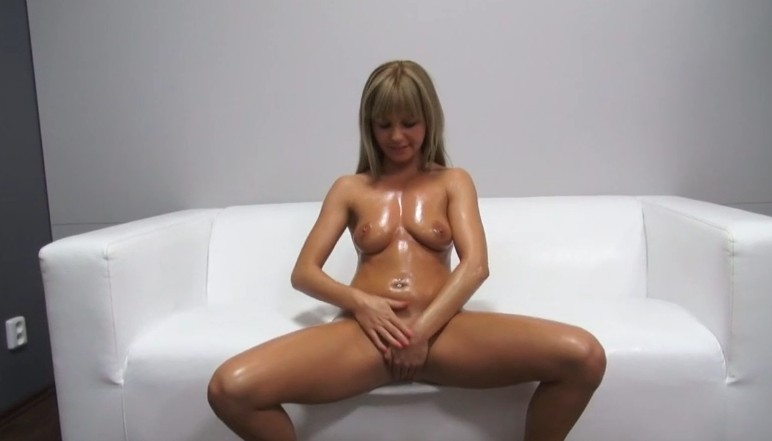 Czech Casting - Blonde czech milf plays with herself