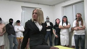 Czech Gangbang - Awesome milf blonde lawyeress and her first gangbang