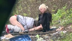 Czech Experiment - Blonde czech babe stops guys on street until one fucks her