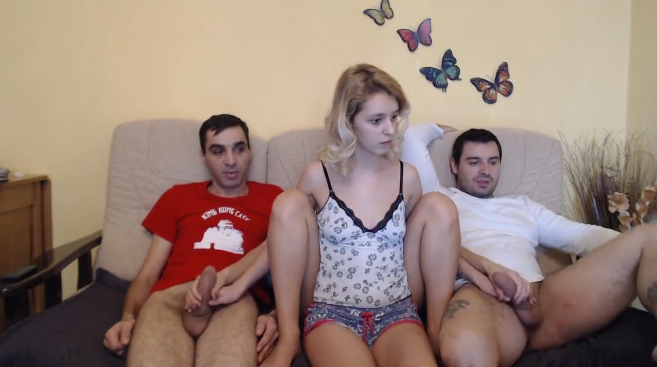 Two couples and hot double handjob