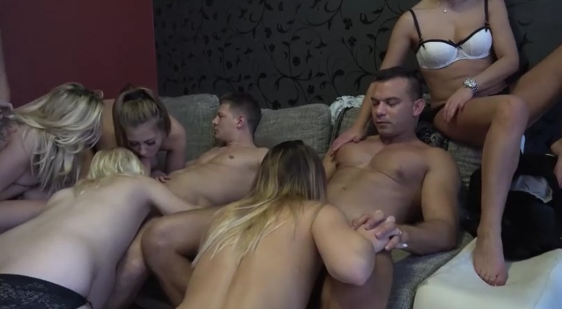 Czech Harem - Two czech guys enjoys a lot of czech naked babes for fuck