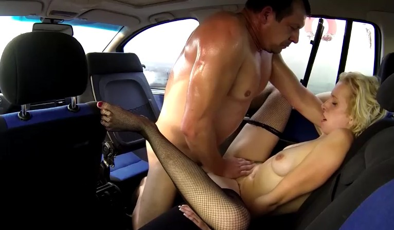Czech Bitch - Backseat sex with real czech prostitute