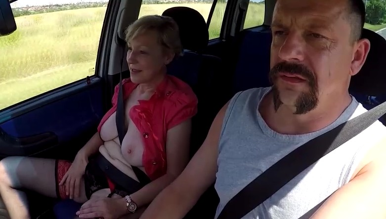 Czech Bitch - Real old czech whore gets fucked for money in car