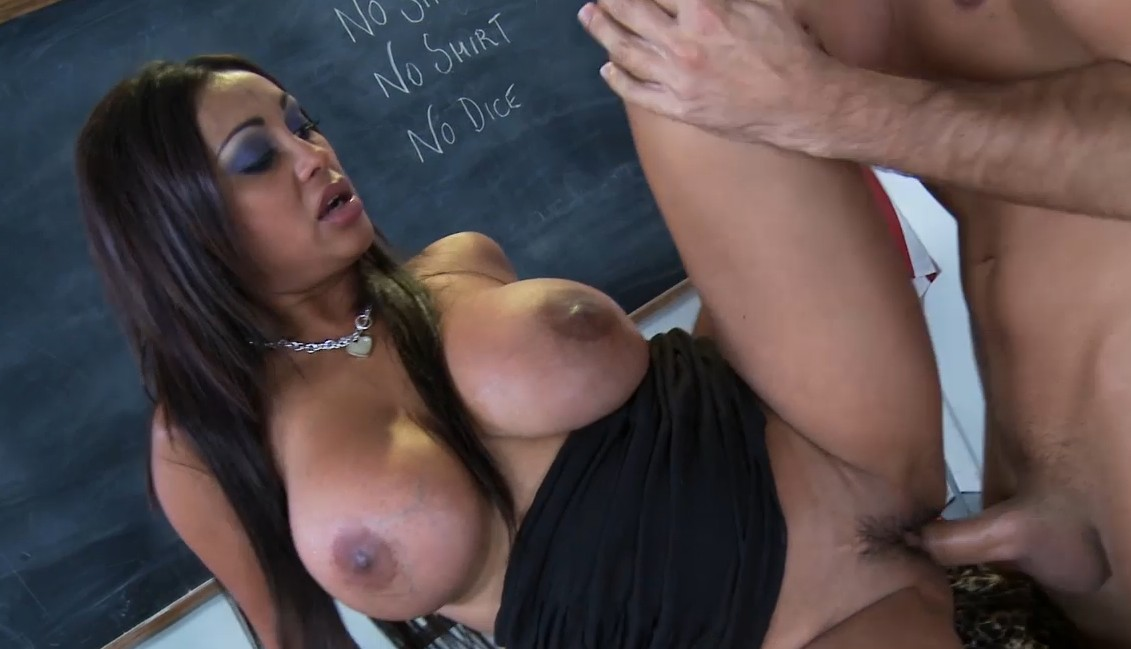 Big tits at school - Hot teacher with huge tits fucked on table