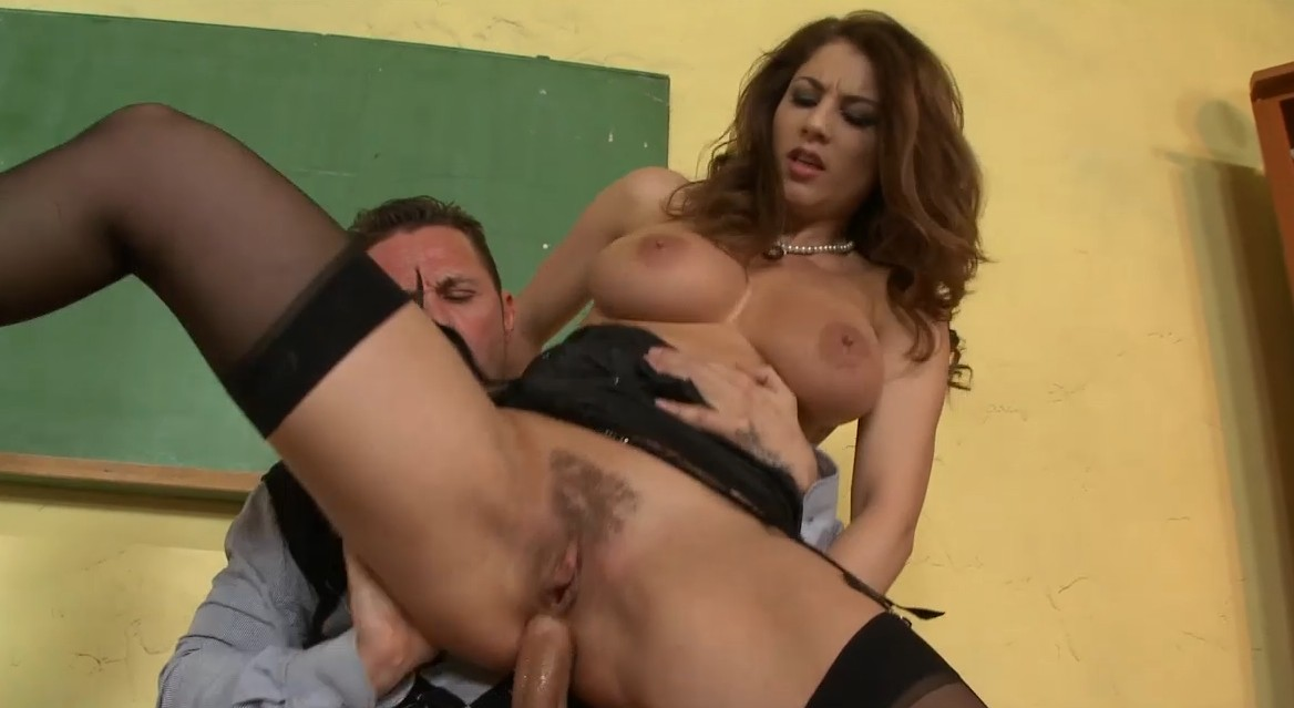 Big tits at school - Bad teacher enjoys hot anal sex