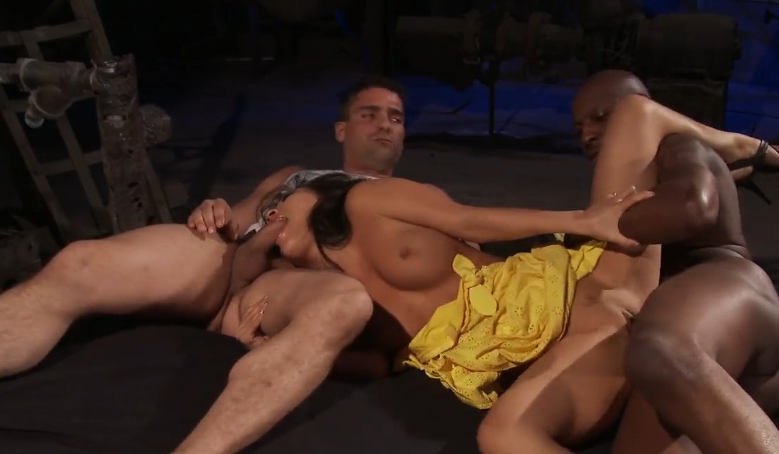 Brazzers - Asa Akira gets fucked by two guys
