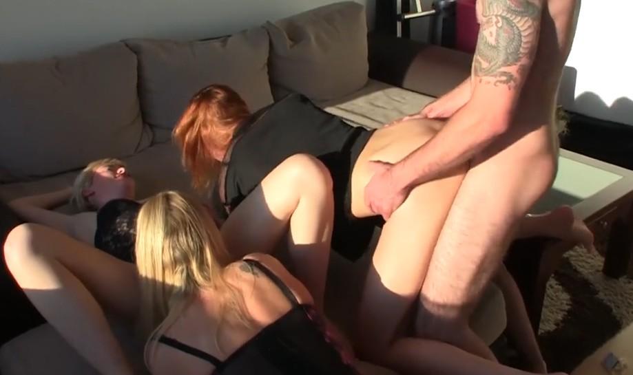 MyDirtyHobby - Three deutsch babes share one dick