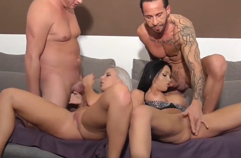 MyDirtyHobby - Two couples are fucking on couch