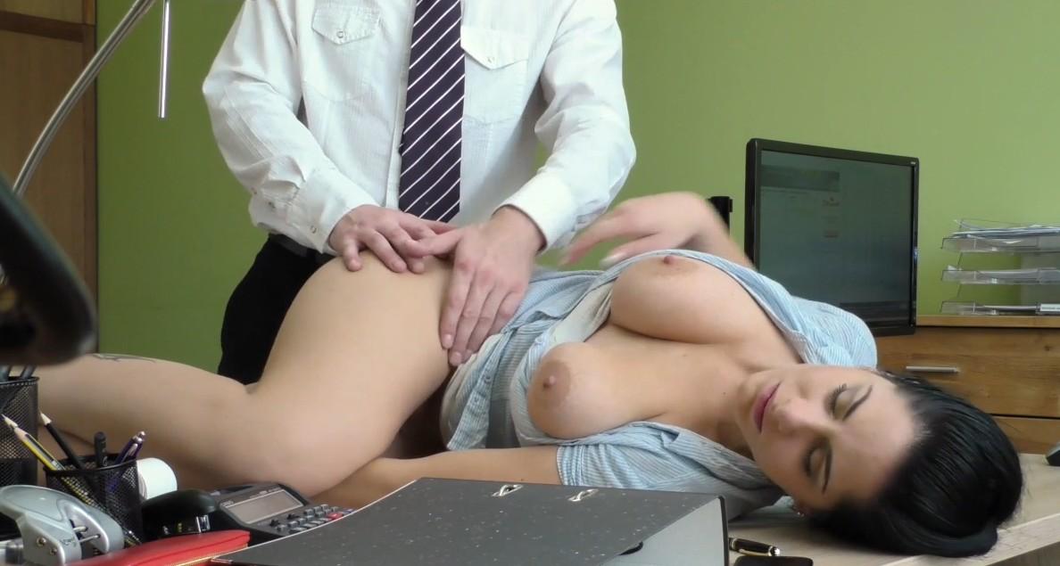 Loan4K - Sex on table with pretty busty czech milf