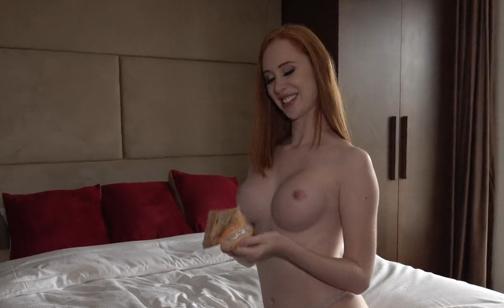 Public Agent - Perfect long haired redhead fucked for money
