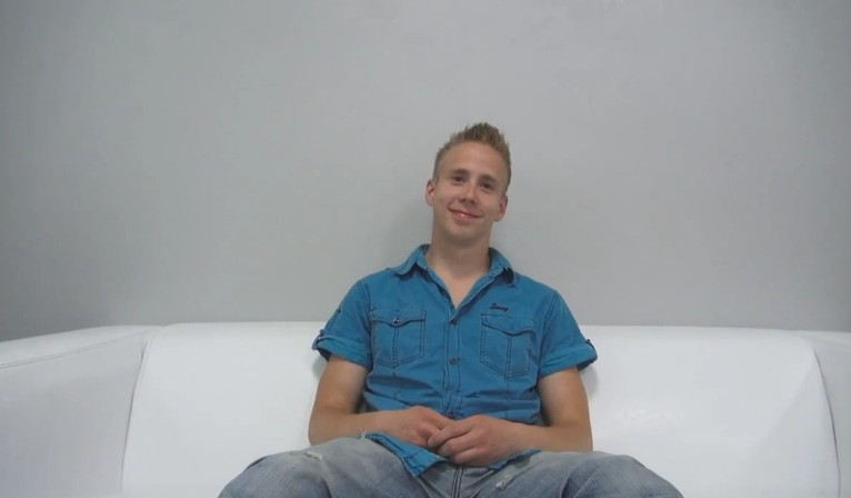 Czech Gay Casting 7703 - 20 years old David at gay casting