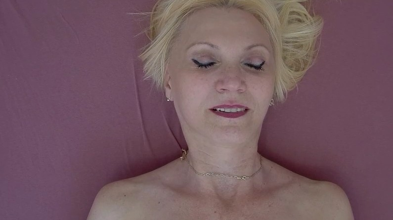 Czech Orgasm - Blonde granny from czech fingers herself