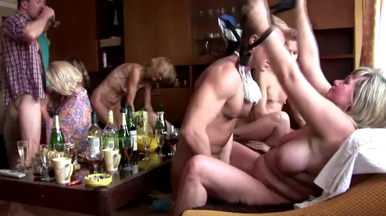 Czech Home Orgy - Hardcore home milf party is here