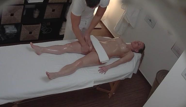 Czech Massage - Long haired babe enjoy pussy massage