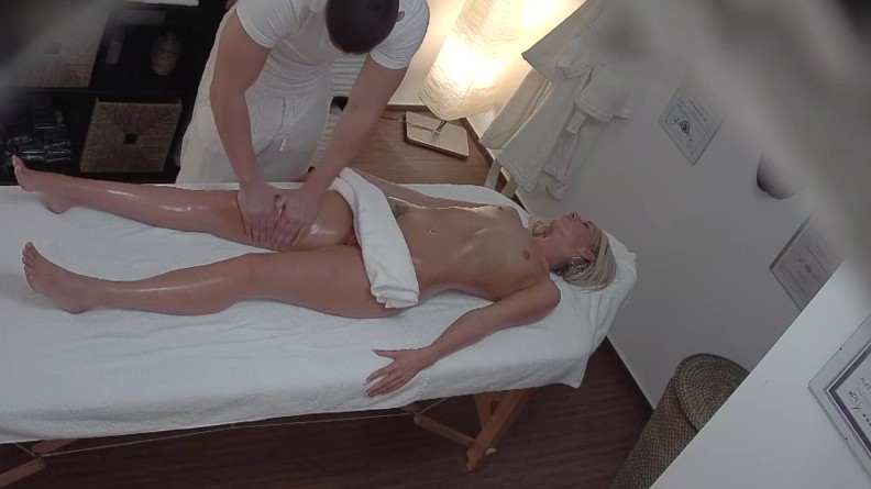 Czech Massage - Hot czech blonde is hungry for cock