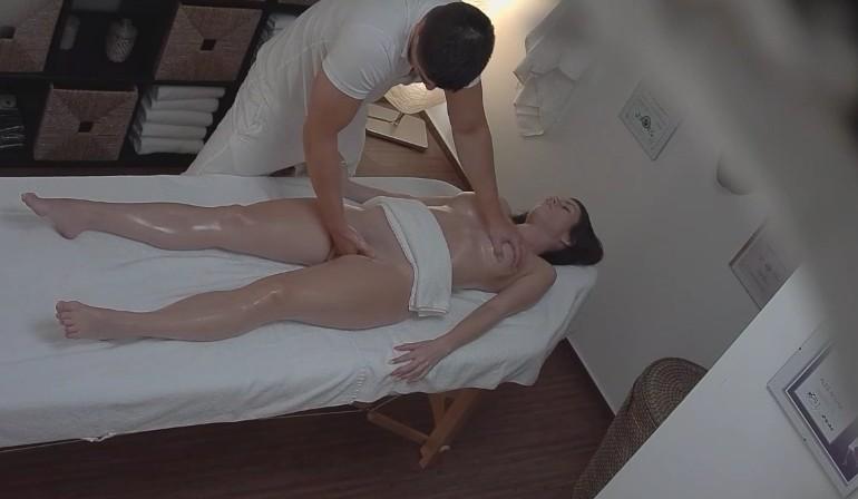 Czech Massage - Sweet czech brunette got pussy massage