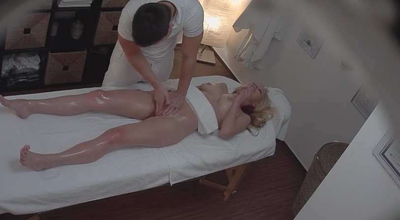 Czech Massage - Czech blonde chick and her first sex massage