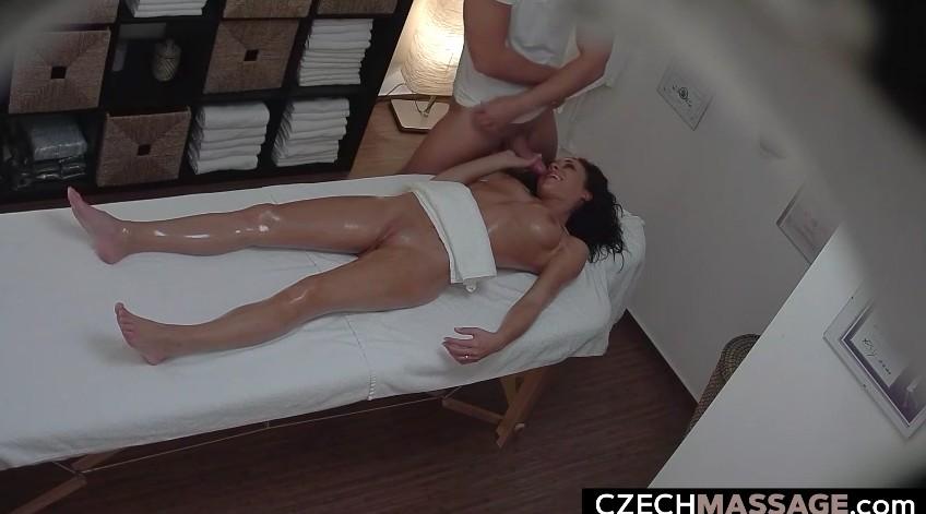 Czech Massage - Pretty czech brunette recorded on spy cam