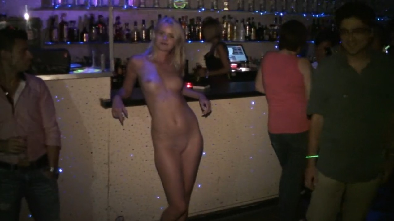 Disco full of naked babes