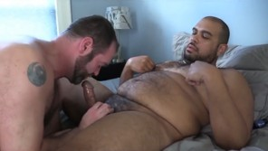 Amateur gay couple enjoys anal sex