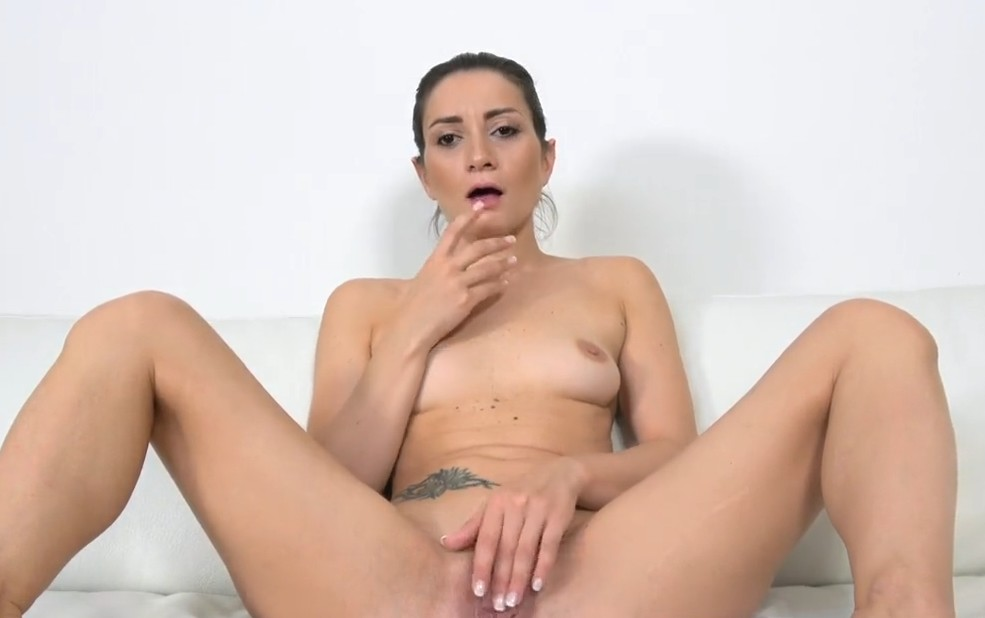 Fake Agent - Black haired italian gets fucked on casting