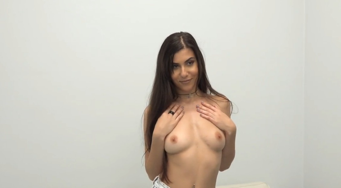 Fake Agent - Cute brunette at her first porn casting