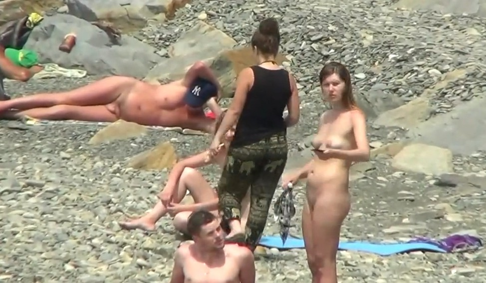A lot of naked babes on real nude beach